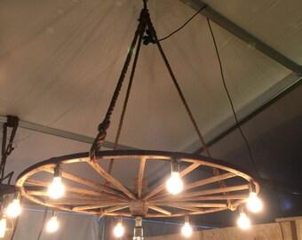 Wagon Wheel Lamp