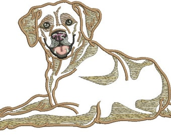 Labrador applique  Machine Embroidery Design
