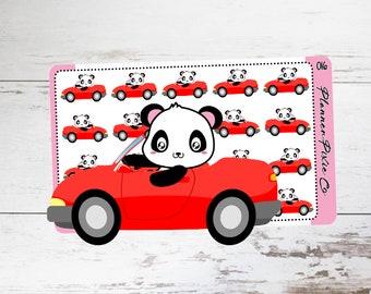 Piper the Panda // Planner Stickers // Road Trip // Car // 016