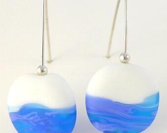 Sea foam glass bead earrings
