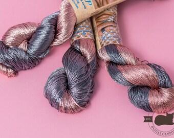 Viscose yarn, sparkle yarn, rayon yarn, glitter, shining, Superfine, Lace weight, crochet yarn