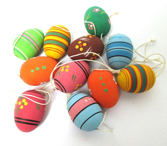 Antique Erzgebirge Easter Eggs Ornaments