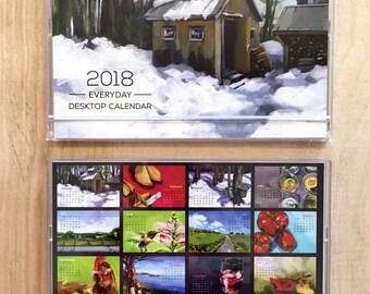 2018 Art by Alyssa Everyday Desktop Calendar