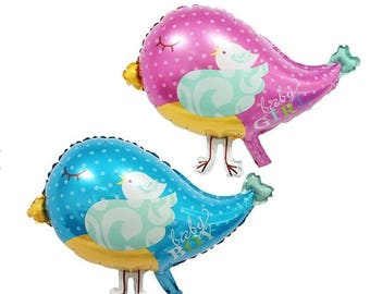 Adorable Baby Shower Bird Balloons   Baby Shower Balloons   Its A Girl   It's A Boy   Unique Balloons