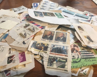 Box of Vintage Stamps