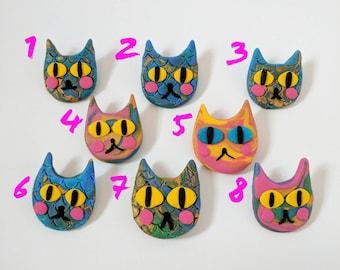 Handmade Cat Brooches
