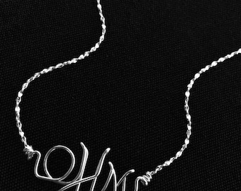 Personalized Silver Monogram Necklace, Bracelet or Anklet~Sterling Silver Wire Initial Jewelry~Any Initials/Letters~Custom Baby Jewelry~Gift