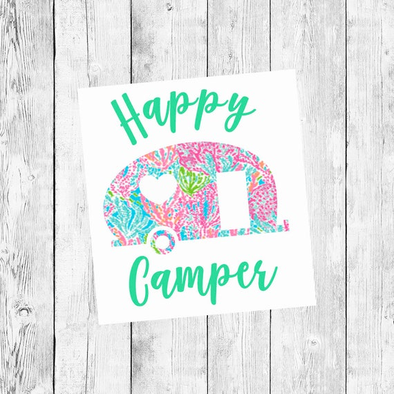 Happy Camper Car Decal Window Vinyl