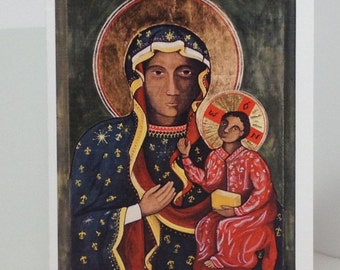 Virgin of  Czestochowa - ICON - ORIGINAL