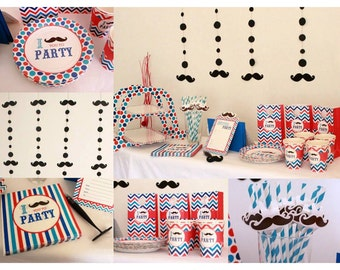 Complete Party Set of Moustache with Free Moustache Pen :)