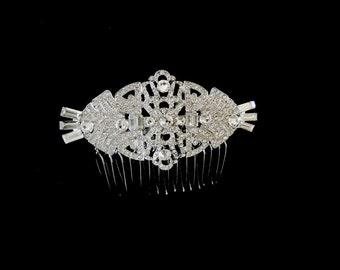 Vintage Art Deco Bridal Hair Comb Bridal