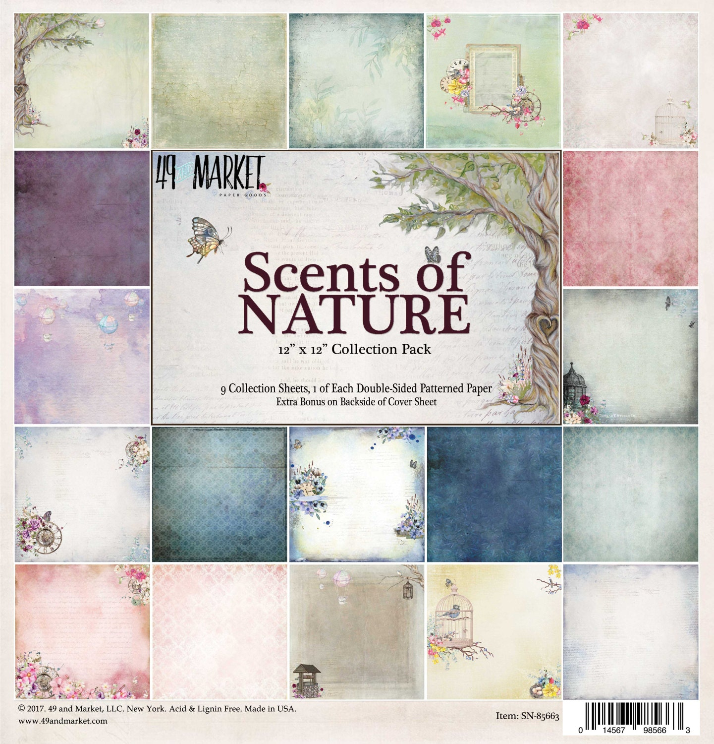 e8def95922f03 Description. 49 and Market SCENTS OF NATURE 12X12 Collection Pack