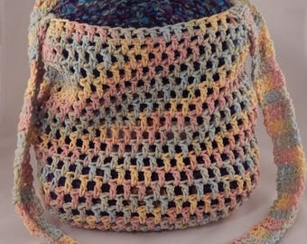 Crocheted Market Bag // Crocheted Tote Bag // Made To Order
