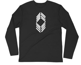 Lots-a-Lines Men's Long Sleeve Fitted Crew
