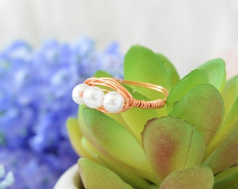 Rose Gold Wire Wrapped Ring