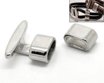 5 Verschlüsse, Verschluss, Hackenverschluss, Schmuckverschluss, Armband, silber, 17967
