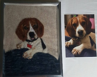 Needle Felted Pet Portrait