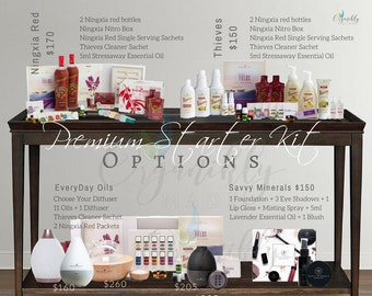 Young Living Essential Oils Premium Starter Kit Options Flyer Download