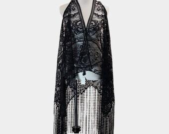 Long Drop Tassel Lovely Lace Scarf / Vest