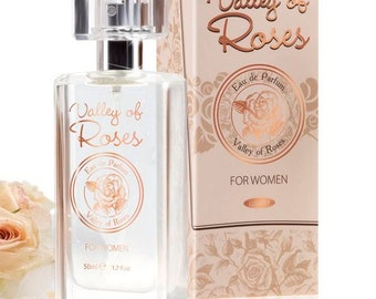 Eau de parfum Valley of Roses, 50ml woman, with Bulgarian rose oil