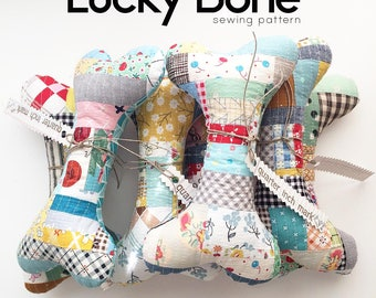 Lucky Bone Patchwork Toy Sewing Pattern/PDF