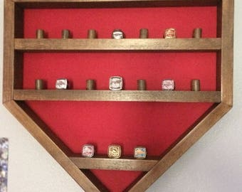 Home Plate Championship Ring Display Case