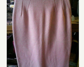 VaVoom Mankiller Early 60s Pink Boucle Knit Fleck Wiggle Skirt - S/M