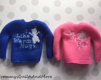 elf sweaters set of 2