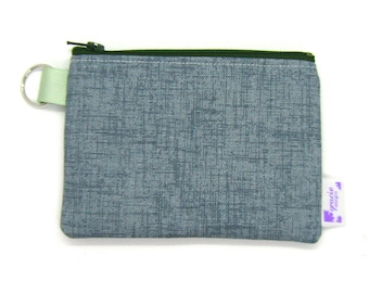 Coin Purse / Change Purse / Coin Pouch / Gadget Pouch - Vintage Blue Twill