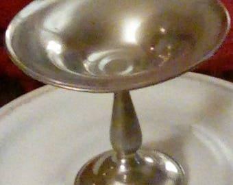 Genuine Pewter Pedestal Dish