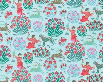 Free Spirit Amy Butler Splendor Sky Forest Friends Fabric - 1 yard