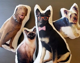 Custom Pet Pillow, Personalized Father's Day Pet Gift, Custom Cat Pillows, Custom Dog Photo Pillow, Custom Pet Pillow, Wedding Gift, Pet