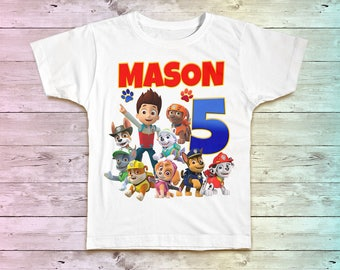 Paw Patrol Birthday Shirt, Paw Patrol Family Birthday Tshirt, Matching Shirts, Paw Patrol Mommy Birthday Party, Paw Daddy Birthday shirt