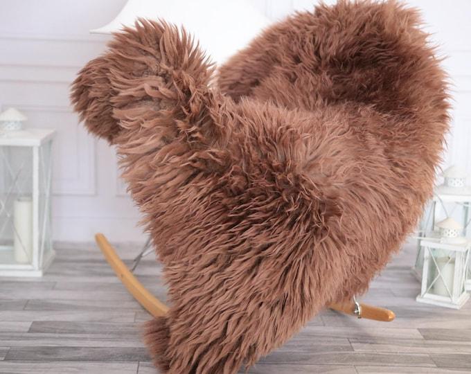 Sheepskin Rug | Real Sheepskin Rug | Shaggy Rug | Chair Cover | Sheepskin Throw | Dirty Rose Sheepskin | CHRISTMAS DECOR | #DECHER10
