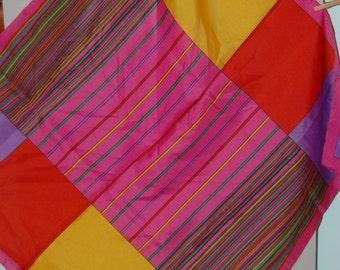 Color block vintage scarf