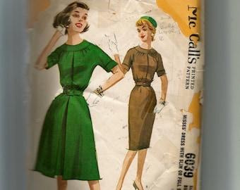 McCall's Misses' Dress With Slim or Full Skirt Pattern 6039