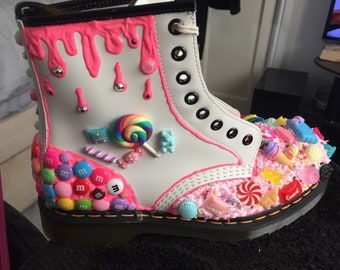 Decoden DM boots. Choose your style and colours. Message me for your bespoke/tailor made design. Genuine DM boots