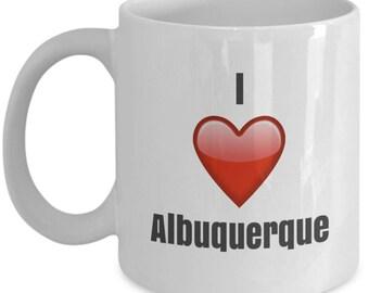 I Love Albuquerque, Albuquerque Mug. Albuquerque Coffee Mug, Albuquerque Gift, Funny Coffee Mug
