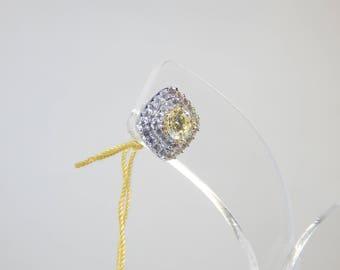 18K White Gold 4.2G(WEIGHT) Earring Diamond 0.82CT BA 0.74CT