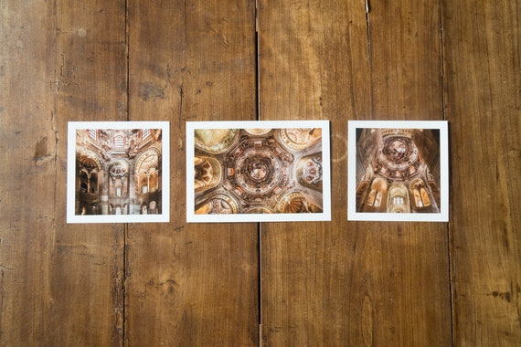 Basilica of San Vitale - studies n.2,1 and 3 - Set of 3 fine art prints