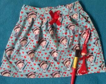 Painting girl skirt