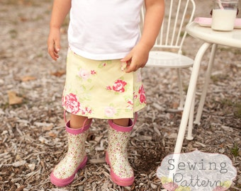 INSTANT DOWNLOAD- Sweetie Wrap Skirt (Sizes 12/18 months to Size 6) PDF Sewing Pattern and Tutorial