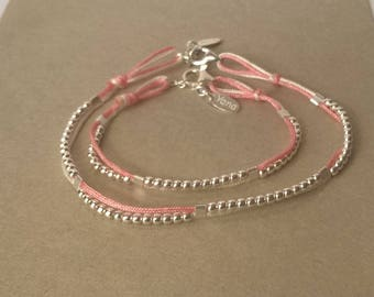"""Bracelet duo """"- mother like daughter"""" 925 sterling silver"""