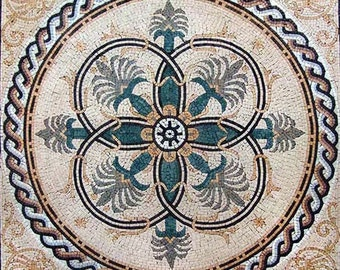 Roman Floral Mosaic Square - Noa