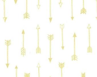 Arrow Flight - Arrows Bright White Metallic - Michael Miller (MC6990-BWHT-D)