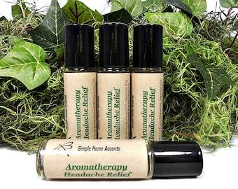 Aromatherapy Headache Relief, Essential Oil Therapy, Natural Headache Remedy, Vegan, Migraine Relief, Gift under 10