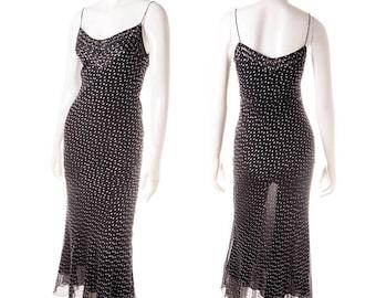Vintage John Galliano 90s Sheer Polkadot Dress