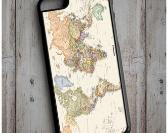 World Map Cool New Case Cover for any iPhone