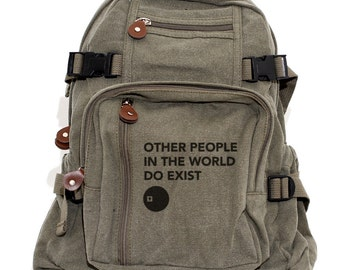 Backpacks. Other People, Canvas Backpack, Rucksack, Travel Backpack, Bag, Small Backpack, Men Backpack, Women's Backpack,