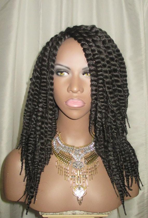 Essence Wigs Afro Mambo Twist Black Crochet Wig Unit